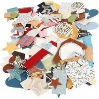 Ritagli di carta fatta a mano, misura 25-130 mm, 110 g, 100 g/ 1 conf.