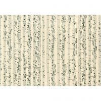 Cartoncino, note musicali, A4, 210x297 mm, 180 g, 10 fgl./ 1 conf.