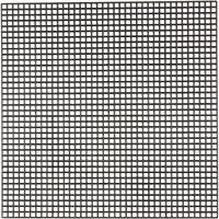 Plastica per punto croce, misura 14x14 cm, misura buco 3x3 mm, nero, 50 fgl./ 1 conf.