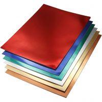 Cartoncino metallizzato, A4, 210x297 mm, 280 g, colori asst., 30 fgl. asst./ 1 conf.