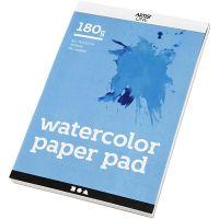 Blocco di carta per acquerelli, A5, 148x210 mm, 180 g, bianco, 20 fgl./ 1 pz