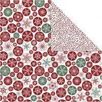 Carta fantasia, cristalli di ghiaccio e pois, 30,5x30,5 cm, 180 g, 5 fgl./ 1 conf.