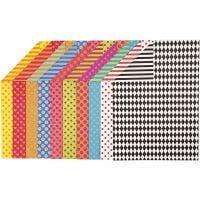 Cartoncino a motivi, A4, 210x297 mm, 250 g, colori asst., 20 fgl. asst./ 1 conf.