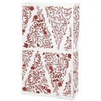 Buste carta, Alberi di Natale, H: 21 cm, misura 6x12 cm, 80 g, 10 pz/ 1 conf.