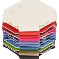 Scatole pieghevoli colorate, misura 5,5x5,5 cm, 250 g, 100 pz/ 1 conf.