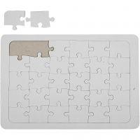 Puzzle a mosaico, misura 21x30 cm, bianco, 1 pz