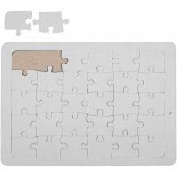 Puzzle a mosaico, misura 15x21 cm, bianco, 1 pz