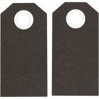 Etichette regalo, misura 6x3 cm, 250 g, nero, 20 pz/ 1 conf.