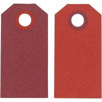 Etichette regalo, misura 6x3 cm, 250 g, porpora/rosso, 20 pz/ 1 conf.