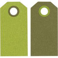 Etichette regalo, misura 6x3 cm, 250 g, lime/verde scuro, 20 pz/ 1 conf.