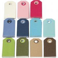 Etichette regalo colorate, misura 6x3 cm, il contenuto può variare , colori asst., 200 asst./ 1 conf.