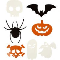 Sagome di Halloween, misura 5-10 cm, 180 g, 50 pz/ 1 conf.