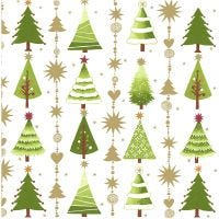 Tovaglioli da tavolo, alberi di Natale, misura 33x33 cm, 20 pz/ 1 conf.