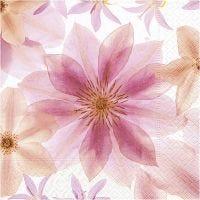 Tovaglioli da tavolo, fiori pressati, misura 33x33 cm, 20 pz/ 1 conf.