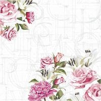 Tovaglioli da tavolo, rose, misura 33x33 cm, 20 pz/ 1 conf.
