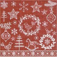 Tovaglioli da tavolo, Spirito del Natale, misura 33x33 cm, 20 pz/ 1 conf.