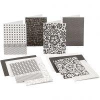 Cartoncini vuoti con busta, dim. cartoncino 10,5x15 cm, 220 g, 16 pz/ 1 conf.