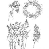 Timbri trasparenti, primavera, 11x15,5 cm, 1 fgl.