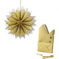 Stella con sacchetti di carta, 170 g, oro, 1 set