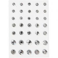 Brillantini, cono rotondo, misura 6+8+10 mm, argento, 35 pz/ 1 conf.