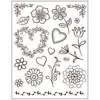 Motivi in silicone, fiori, 14x18 cm, 1 fgl.