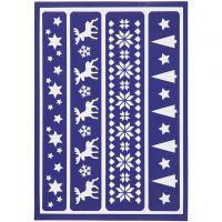 Stencil flessibile, bordi, 21x14,8 cm, 1 pz