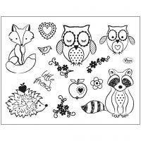 Motivi in silicone, animali, 14x18 cm, 1 fgl.