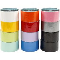 Nastro adesivo, L: 48 mm, colori asst., 12x5 m/ 1 conf.