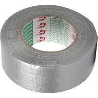 Nastro adesivo telato, L: 50 mm, argento, 50 m/ 1 rot.