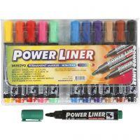 Power Liner, ampiezza tratto 1,5-3 mm, colori asst., 12 pz/ 1 conf.