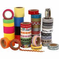 Washi Tape, L: 15+30+40 mm, 51x10 m/ 1 conf.