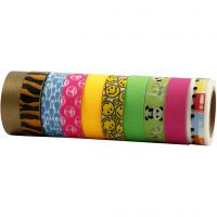 Washi Tape, L: 15 mm, 10x10 m/ 1 conf.