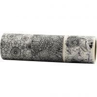 Washi Tape, L: 50 mm, 3x5 m/ 1 conf.