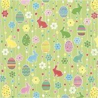 Tovaglioli da tavolo, Uova di Pasqua decorate, misura 33x33 cm, 20 pz/ 1 conf.