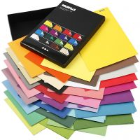 Carta Color Bar, A4, 210x297 mm, 100 g, colori asst., 16x10 fgl./ 1 conf.