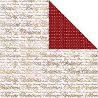 Carta fantasia, glædelig jul e pois, 30,5x30,5 cm, 180 g, oro, 3 fgl./ 1 conf.