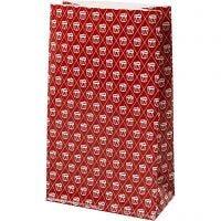 Buste carta, tamburo, H: 21 cm, misura 6x12 cm, 80 g, rosso, bianco, 8 pz/ 1 conf.