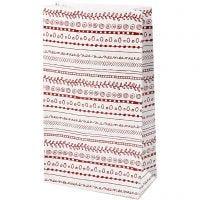 Buste carta, scarabocchi, H: 21 cm, misura 6x12 cm, 8 pz/ 1 conf.