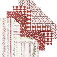 Carta origami, misura 10x10 cm, 80 g, rosso, 40 fgl./ 1 conf.