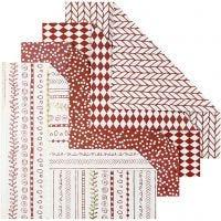 Carta origami, misura 15x15 cm, 80 g, rosso, 40 fgl./ 1 conf.