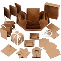 Explosion Box, misura 7x7x7,5+12x12x12 cm, natural, 1 pz
