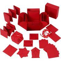 Explosion Box, misura 7x7x7,5+12x12x12 cm, rosso, 1 pz