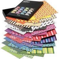 Cartocino Color Bar, A4, 210x297 mm, 250 g, colori asst., 16x10 fgl./ 1 conf.