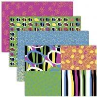 Decoupage Paper, 25x35 cm, 17 g, colori vivaci, 4x2 fgl./ 1 conf.