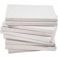 Tela tesata, P 1,6 cm, A3, misura 29,7x42 cm, 280 g, bianco, 40 pz/ 1 conf.