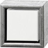 Tela ArtistLine con cornice, P 3 cm, misura 14x14 cm, 360 g, bianco, 6 pz/ 1 conf.