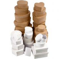 Scatole, misura 6,5-18 cm, marrone, bianco, 30 pz/ 1 set