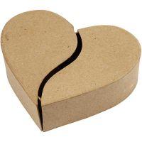 Scatola cuore, H: 5 cm, diam: 16,5 cm, 1 pz