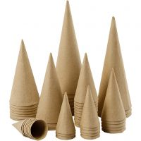 Coni, H: 8-20 cm, diam: 4-8 cm, 50 pz/ 1 conf.