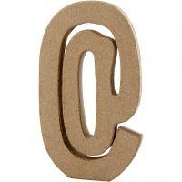 Simbolo, @, H: 19,9 cm, L: 11,5 cm, spess. 2,6 cm, 1 pz